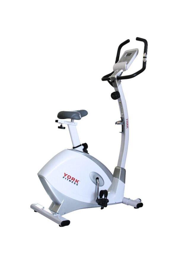 York Fitness B50-V2 Upright Exercise Bike, White